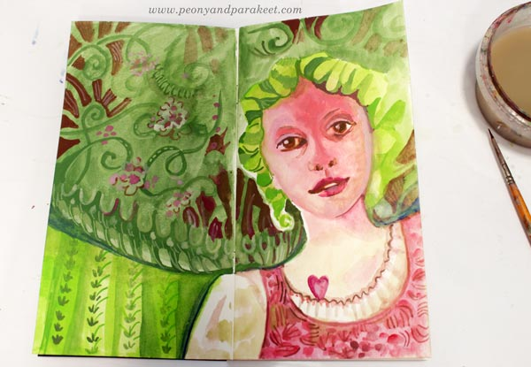 Art Inspiration from Jane Austen. Harriet, Emma's friend. By paivi Eerola of Peony and Parakeet.