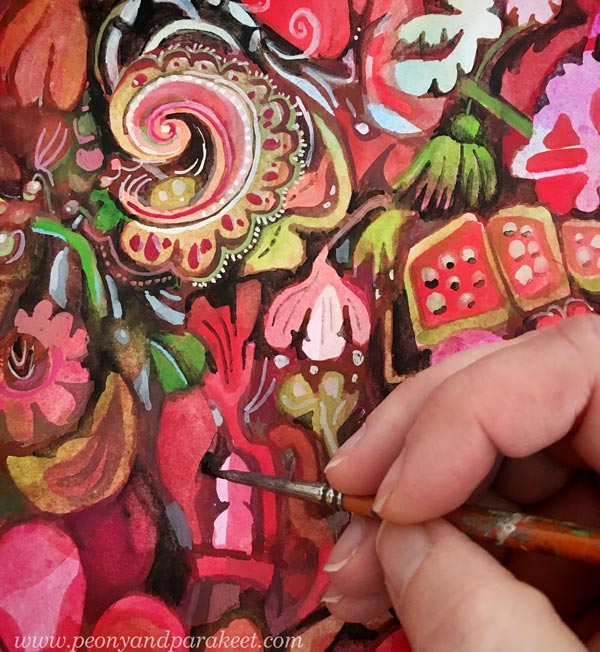 Painting delicious colors and sugary shapes. By Paivi Eerola of Peony and Parakeet.