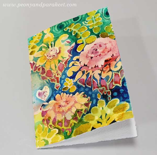Ornamental Flowers - a step by step tutorial by Paivi Eerola of Peony and Parakeet