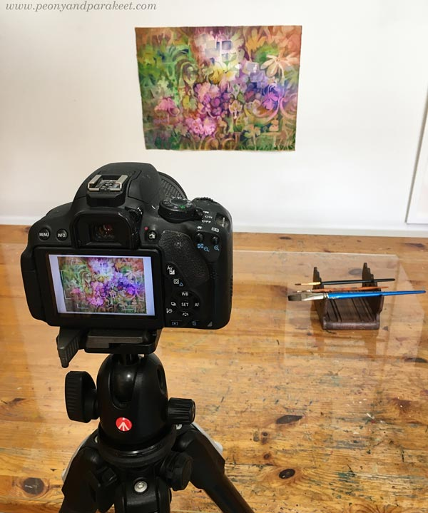 Having art on the wall and photographing it. By Paivi Eerola of Peony and Parakeet.