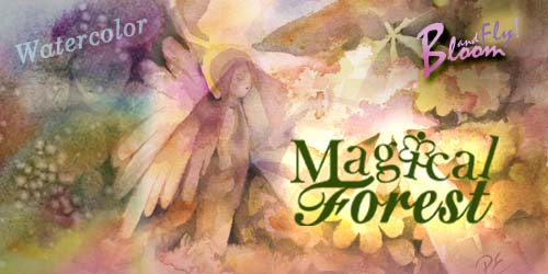 Magical Forest, an online art class about watercolor painting and expressing spirituality