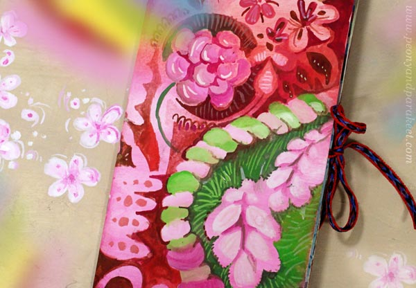 Rainbow Journal, an art project by Paivi Eerola of Peony and Parakeet.