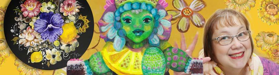 Artist Paivi Eerola and her online art class Decodashery