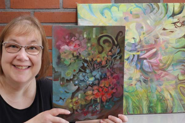 Artist Paivi Eerola of Peony and Parakeet and her intuitive paintings.