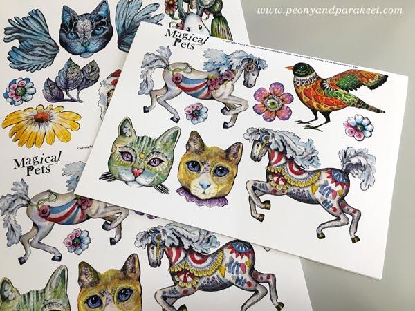 Magical Pets image sheet - Paivi Eerola's drawings