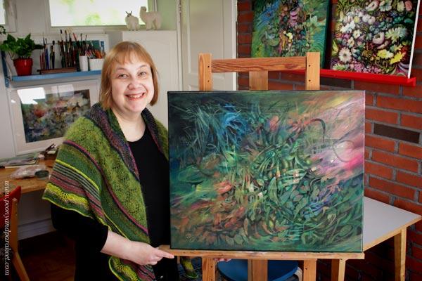 Artist Paivi Eerola in her art studio.