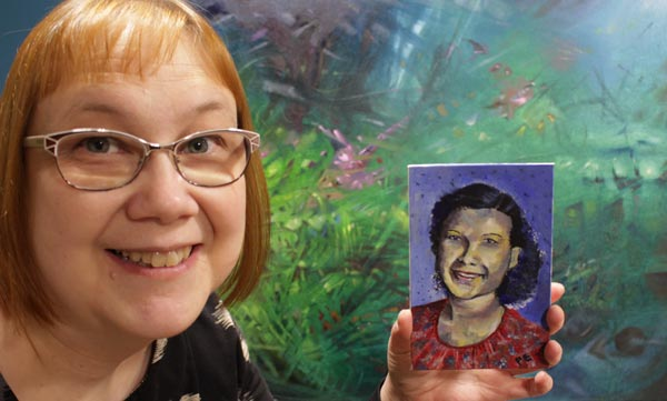 Paivi Eerola and her paintings. Read more about her thoughts on spirituality in art.