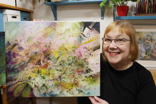 Paivi Eerola and her oil painting. Read about her artistic growth!