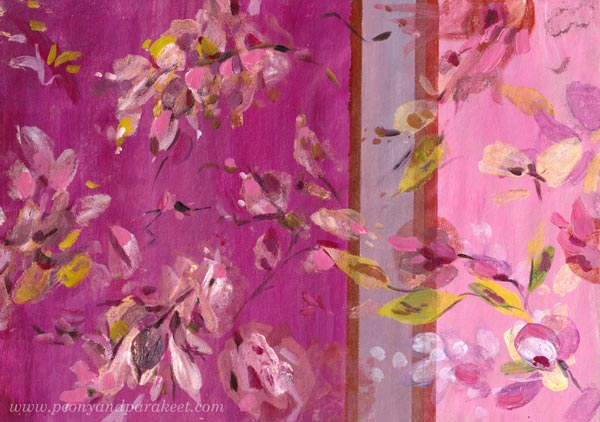 A patterned paper inspired by Tricia Guild's design style. By Paivi Eerola of Peony and Parakeet.