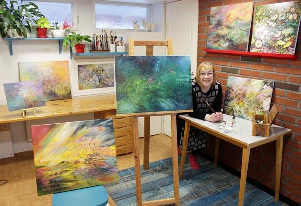 Visual artist Paivi Eerola in her studio.