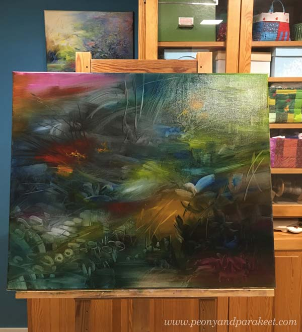 Oil painting in progress. By Paivi Eerola.
