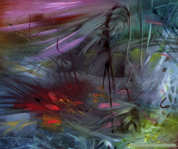 A detail of This Too Shall Pass, an oil painting by Paivi Eerola