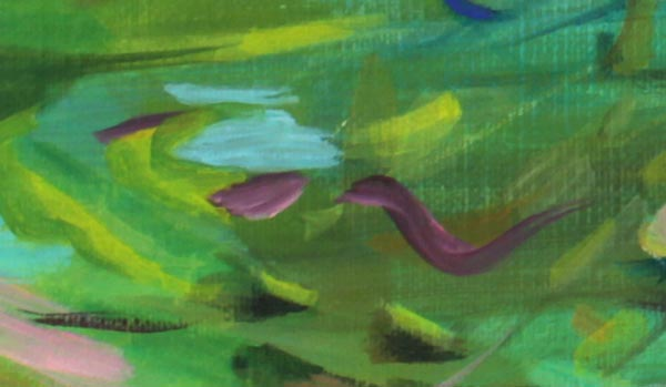 A detail of an acrylic painting. Design principle: repetition.