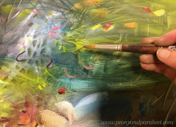 Painting lines with a brush - one form of drawing!