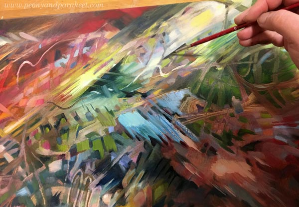 Painting abstract art by Paivi Eerola