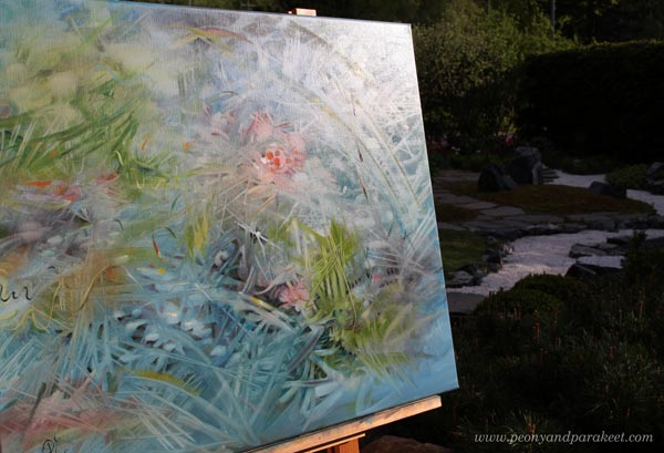 A detail of Bluesomnia, oil painting by Paivi Eerola. Read her post about Claude Monet and creativity!
