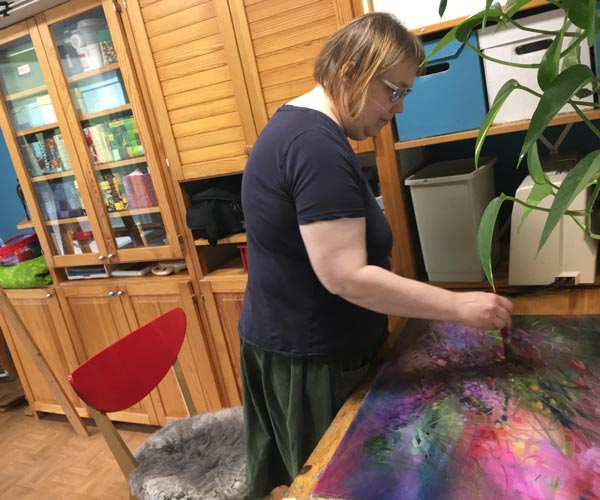 Setting creative goals for paintings. Read more about artist's wishes, a post written by Paivi Eerola.