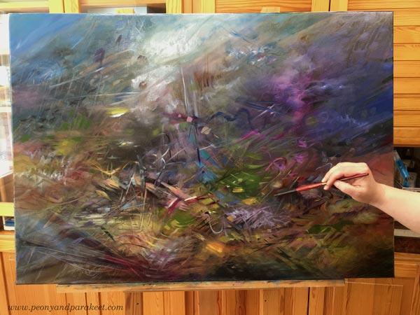 Oil painting in progress. By Paivi Eerola.