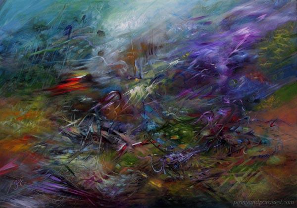 """All In - Kaikki peliin"" - oil painting by Paivi Eerola."