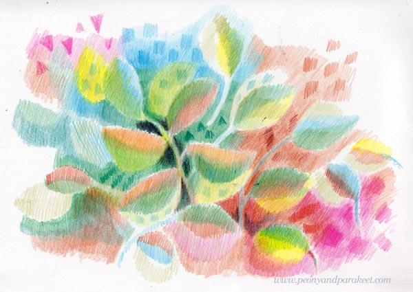 Colorful colored pencil art