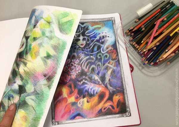 Creating fantasy art with colored pencils. By Paivi Eerola of Peony and Parakeet.
