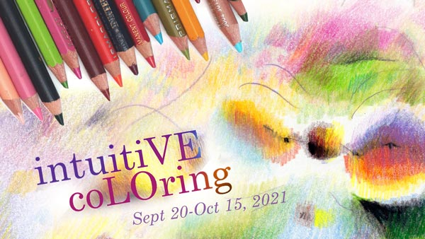 Online art class Intuitive Coloring. A class for colored pencils.