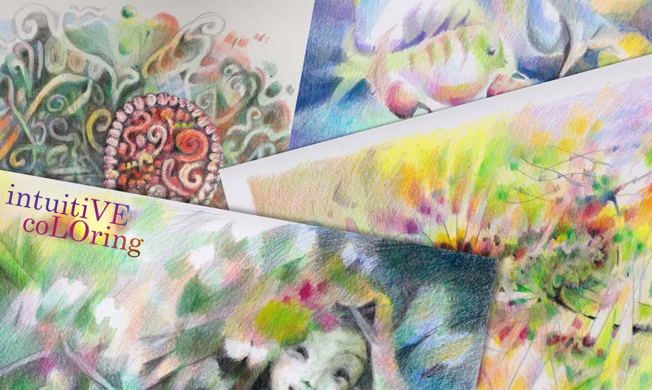 Intuitive Coloring - an online art class by Paivi Eerola of Peony and Parakeet