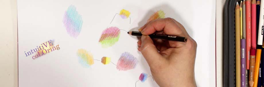 Playing with simple shapes. Using colored pencils to create art.