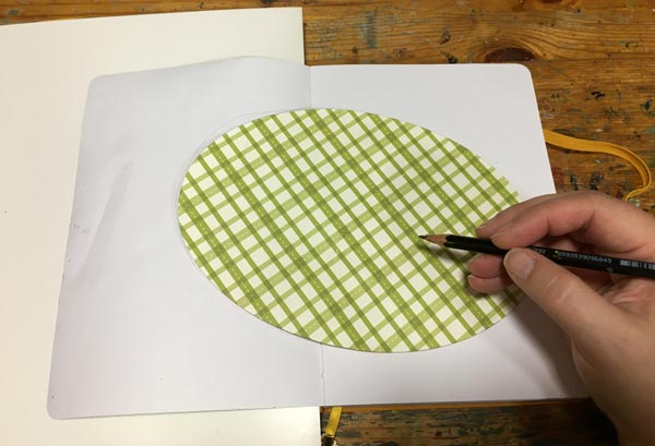 Drawing an oval.