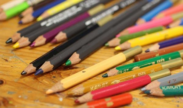 Watercolor pencils.