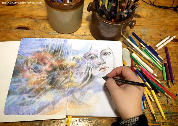 Keeping a colored pencil sketchbook