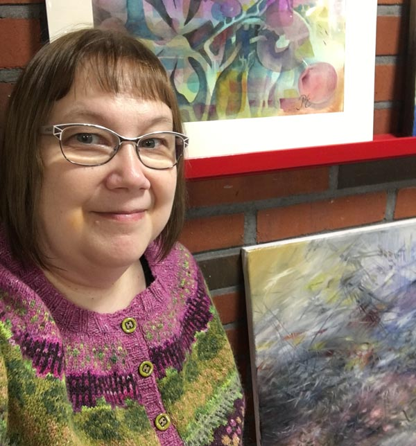 Paivi Eerola and her art. Follow her art journey to spirituality in her blog!